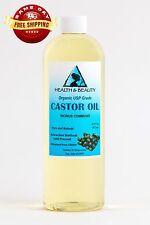 CASTOR OIL ORGANIC USP GRADE HEXANE FREE by H&B Oils Center COLD PRESSED 48 OZ