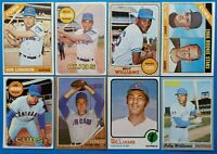 Vintage 1960-70s Topps 8-card Lot Baseball Cards Cubs *HOFer Billy Williams 4x*
