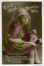 c 1920 Child Children ADORABLE LITTLE GIRL European photo postcard