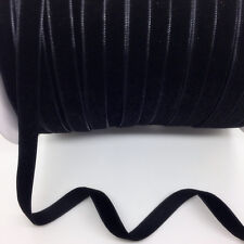"""New 5Yards 3/8"""" 10mm Black  Velvet Ribbon Clips Crafts Sew Clips Bow Decoration"""