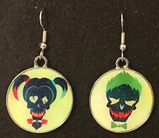 JOKER & HARLEY QUINN Mix set Earrings  Hook New Cartoon Batman Villains (B)