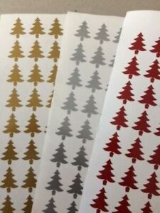 40 XMAS TREE SHAPES WINE GLASS CARD ENVELOPE VINYL STICKERS DECAL CHRISTMAS 001
