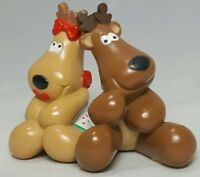 1986 Hallmark Cards Christmas Rodney Rhonda Reindeer Collectibles Lover Couple