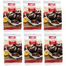 Weiss 6x 150g gefüllte Zartbitter Lebkuchen Herzen mit Aprikosenfüllung 900g