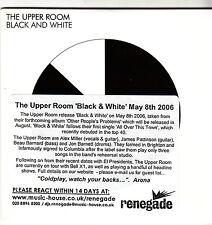 THE UPPER ROOM  Black and white - 2006 1 Track Promo CD