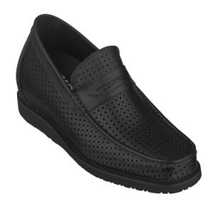 """CALTO Men's Invisible 3.2"""" Height Increasing Elevator Casual Loafers - T1431"""
