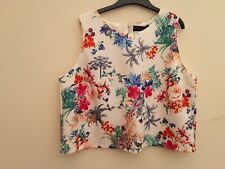 DOROTHY PERKINS summer floral print sleeveless top Size 18 New with Tags
