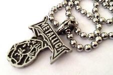 More details for metallica metal rock pewter pendant necklace 24