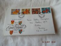 POST OFFICE FIRST DAY COVER GREAT BRITONS