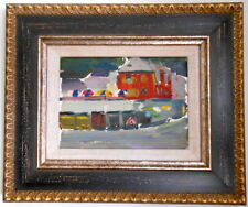Armenia,Soviet Painting,Impressionism,1960s Red Cottage,Armenian Modern Art
