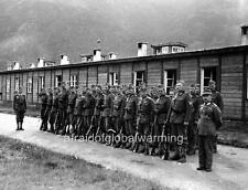 Photo. 1940. Obermillstatt, Austria. Army Recurits By Barracks Waiting To Fight