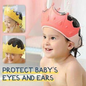 Hot New Kids Ear Protective Cap Shampoo Cap Baby Crown Shower Cap Soft Cartoon