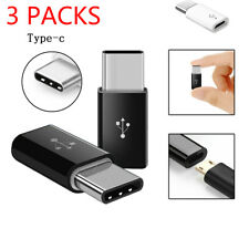 3x USB-C Type-C to Micro USB Data Charging Adapter For Samsung Galaxy S8 S8+ S9