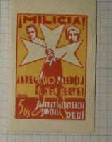 Military Veteran Charity War Tax Portugal Militia 5c WW Political & Patriotic