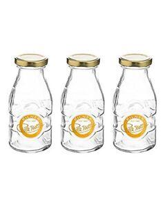 3 x Kilner 1/3 Pint Milk Bottles for milk, shakes, smoothies etc [7642H]