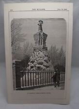 AN ARCHITECT'S TOMB IN TORONTO CANADA Antique Canadian 19th Century Plate 1880*