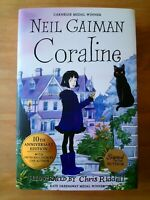SIGNED ANNIVERSARY EDITION of CORALINE by NEIL GAIMAN (GOOD OMENS). 1ST / FIRST