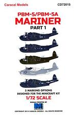 Caracal Decals 1/72 MARTIN PBM-5 PBM-5A MARINER Flying Boat Part 1