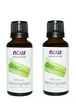Now Foods 100% Pure Essential Oil in Lemongrass - 1 oz/ 30 ml - LOT OF 2
