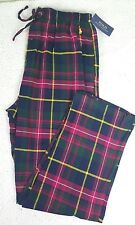 NWT POLO RALPH LAUREN MEN RED PLAID FLANNEL  PAJAMA LOUNGE PANTS SZ LARGE L