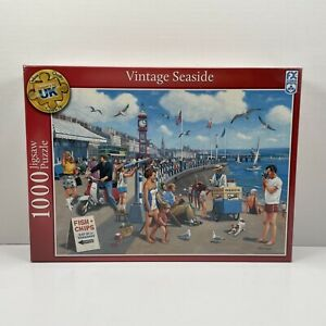 NEW & SEALED 1000 Piece Jigsaw Puzzle Vintage Seaside By Kevin Walsh