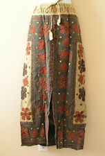 G46 Gothic Hippie Gypsy Bohemian Renaissance Heavily Embroidered Long Skirt -  L