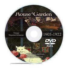 Vintage House and Garden Magazine, 1905-1922, Victorian Home Design DVD  V37