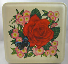 Current Inc. Floral Fanfare Stationary 1980 Tin Empty