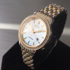 Ladies Citizen Eco Drive Watch Diamonds Pearl Dial Steel Good Date Genuine