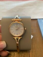 Fossil Women Watch Carlie Mini Three-Hand Rose Gold-Tone Stainless Steel ES4500