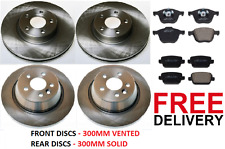 FORD KUGA (2008-2012) FRONT AND REAR BRAKE DISCS AND PADS SET **NEW**