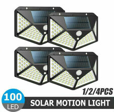 100LED Solar Waterproof PIR Motion Sensor Garden Outdoor Security Wall Light US