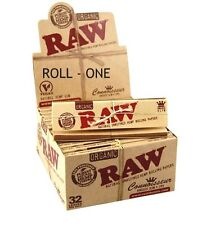 Raw Organic King Size Connoisseur + Tips natural unrefined Rolling Papers 24 pck