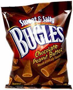 BUGLES SWEET & SALTY CHOCOLATE PEANUT BUTTER 3.25 OZ EACH (7-Bags)