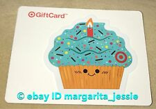 """TARGET 2017 GIFT CARD """"BLUE CUPCAKE"""" DIE CUT NO VALUE NEW COLLECTIBLE"""