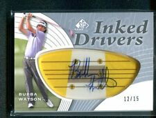 2012 SP Game Used Golf BUBBA WATSON Inked Drivers Auto Autograph 2/15