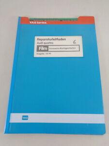 Manual de Taller Microfich Audi Quattro Urquattro Carrocería Trabajos de Montaje