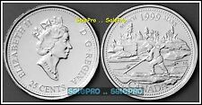 CANADA 1999 MARCH CANADIAN LOG DRIVE QUARTER QUEEN 25 CENT COIN UNC