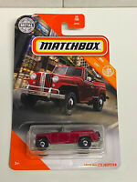 2020 Matchbox MBX City #38/100 1948 Willys Jeepster Red NIP