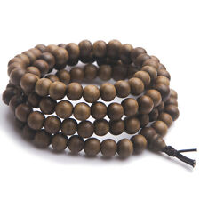 Genuine Natural Aloeswood Agilawood Fragrant 108 Prayer Beads Bracelet 9mm AAAA