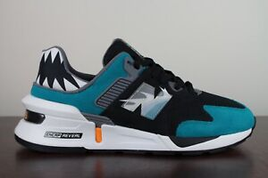 New Balance 997S Shoe Palace Great White Shark Teal Toe Black size 9