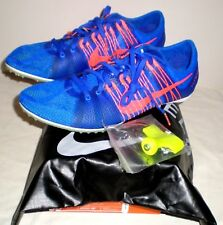 $120 Men NIKE ZOOM VICTORY 2 Track Running Shoes Sz 12 RED / BLUE Spikes & Bag