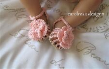 Crochet PATTERN - Summertime Fun Sandals/Baby Shoes CR62 FREE P and P