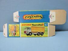"MatchboxSuperfast 47A DAF Tipper Truck ""G Box"" Unfolded C10 MINT BOX"