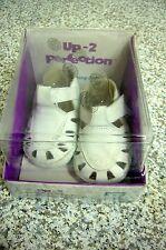 Perfection Up 2 Jumping Jacks Walking Toddler Shoes White Leather Bunny NIB 1M