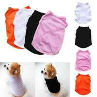 Haustier Kleidung einfarbig T-Shirt Welpe Hund Katze Casual Weste Top Bekleidung
