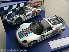 "Carrera Digital 132 30698 Porsche 918 Spyder ""Martini Racing"", No. 23"" NEU LICHT"