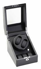 New High Quality Diplomat Black Dual Automatic 2 Watch Winder Box