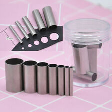7PCS Round Clay Cutter Indentation Circle Cutters Mold Ceramics Dotting Tool  Mf