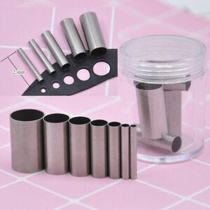 7PCS Round Clay Cutter Indentation Circle Cutters Mold Ceramics Dotting TooS^lk